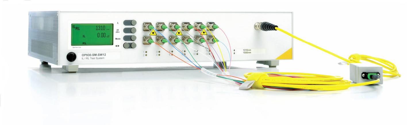 测试可以采用扇形测试基准线进行比较方法的测试,也可以采用外置光